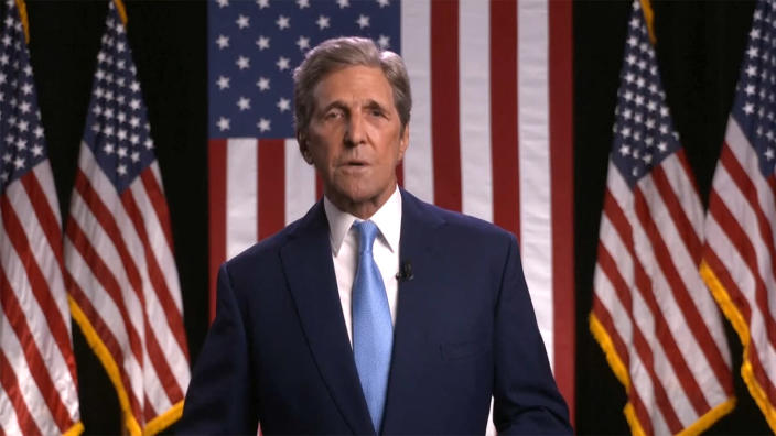 Former Secretary of State John Kerry speaks during the virtual Democratic National Convention on August 18, 2020. (via Reuters TV)