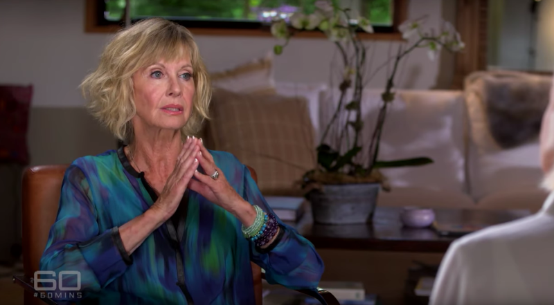 Olivia Newton-John speaks about how she's coping after being diagnosed with cancer for the third time. Photo: Channel Nine