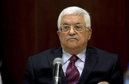 Palestinian President Abbas chairs a PLO executive committee meeting in the West Bank city of Ramallah