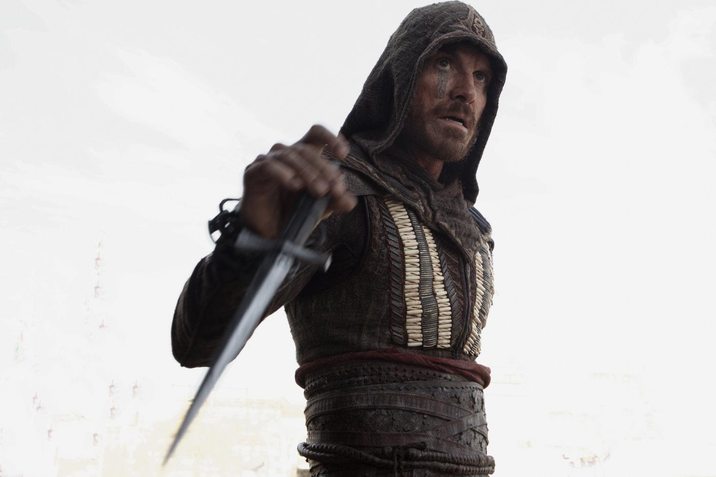 Michael Fassbender in a still from Justin Kurzel's <i>Assassin's Creed</i> movie. (20th Century Fox)