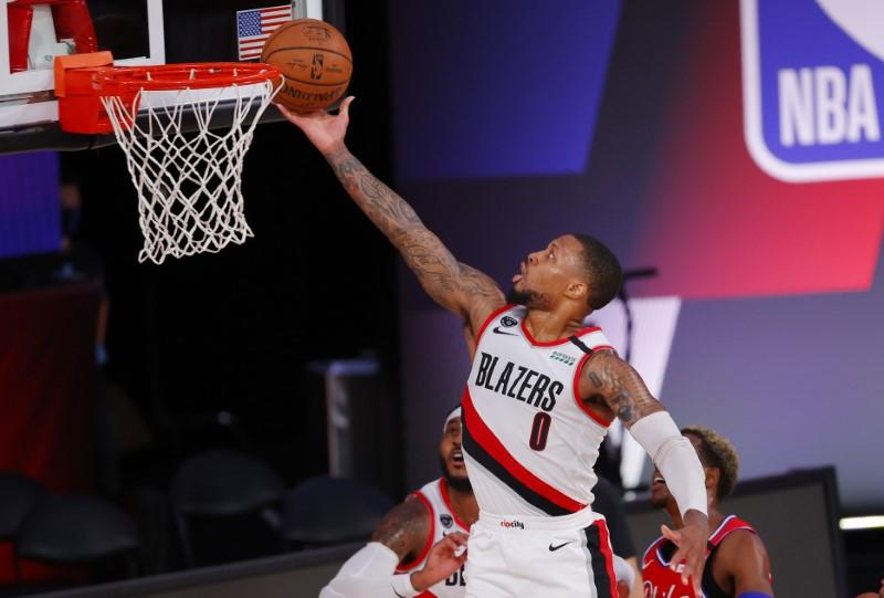 Blazers take down Sixers as Lillard scores 51