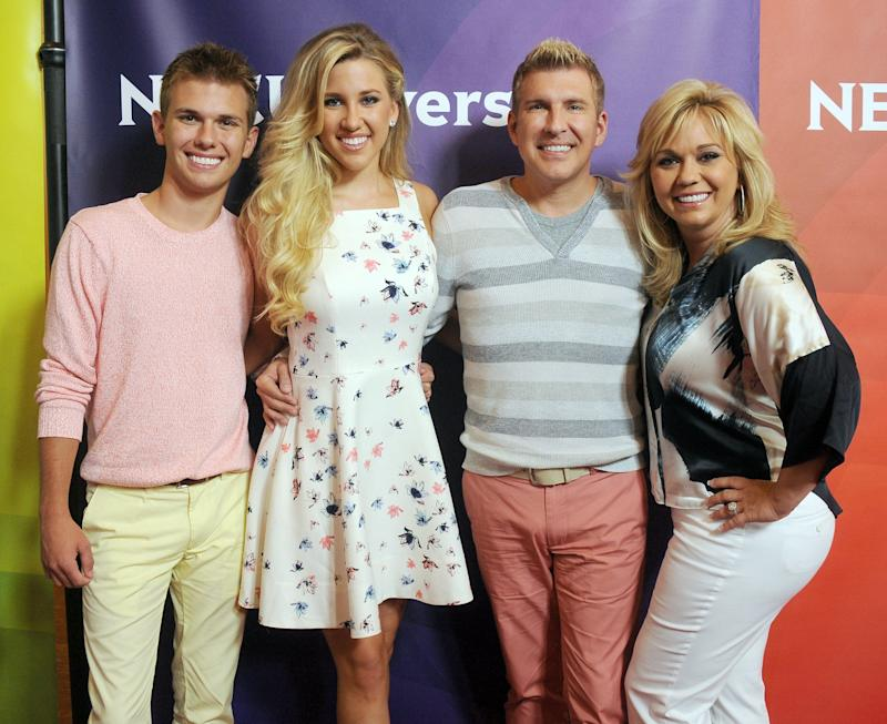 The TV part of Chrisley family: Chase, left, Savannah, Todd and Julie Chrisley.