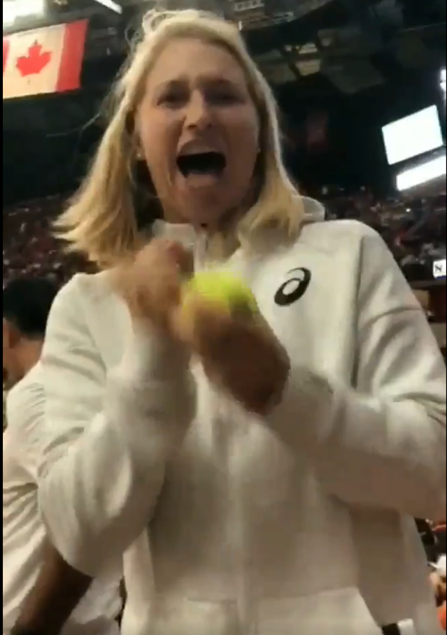 <p>Dasha's insane one in 19,000 moment at NBA match</p>
