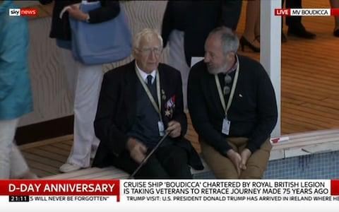 <span>One of the veterans shares his story</span> <span>Credit: Sky News </span>