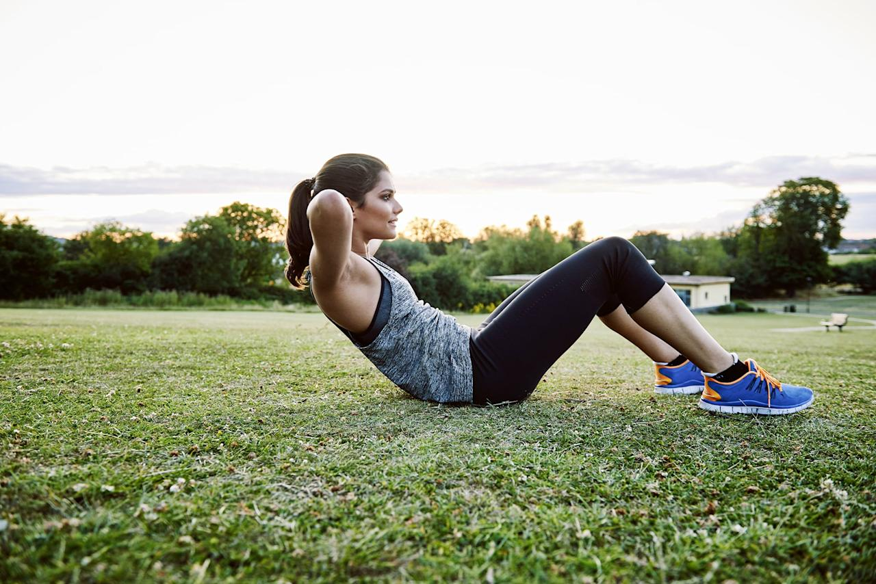 """<p>If you're doing endless crunches in the quest for a six-pack, it's time you change your strategy. Not only will this not give you the results you are looking for, it limits how many core muscles you're working.</p> <p>""""Obtaining a chiseled midsection takes more than crunches,"""" ACSM-certified personal trainer Chavanne Scott-Hellner, owner and operator of <a href=""""http://fitnesstogether.com/"""" target=""""_blank"""" class=""""ga-track"""" data-ga-category=""""Related"""" data-ga-label=""""http://fitnesstogether.com/"""" data-ga-action=""""In-Line Links"""">Fitness Together</a>, told POPSUGAR. """"To achieve a flat and chiseled midsection, you must change the actual body composition by reducing fat and building up the core muscle. To make that change, it involves a strategic mix of cardiovascular workouts, core training, resistance training, and healthy diet.""""</p> <p>So it's true what they say: abs are made in the kitchen, not the gym. For other core-strengthening exercises beyond the standard crunch, check out <a href=""""https://www.popsugar.com/fitness/Best-Ab-Exercises-Arent-Crunches-44955342"""" class=""""ga-track"""" data-ga-category=""""Related"""" data-ga-label=""""http://www.popsugar.com/fitness/Best-Ab-Exercises-Arent-Crunches-44955342"""" data-ga-action=""""In-Line Links"""">these ab exercises</a>. If you're looking for a plan to follow, <a href=""""https://www.popsugar.com/fitness/4-Week-Ab-Workout-Plan-45405612"""" class=""""ga-track"""" data-ga-category=""""Related"""" data-ga-label=""""https://www.popsugar.com/fitness/4-Week-Ab-Workout-Plan-45405612"""" data-ga-action=""""In-Line Links"""">this four-week ab plan</a> checks all the boxes.</p>"""