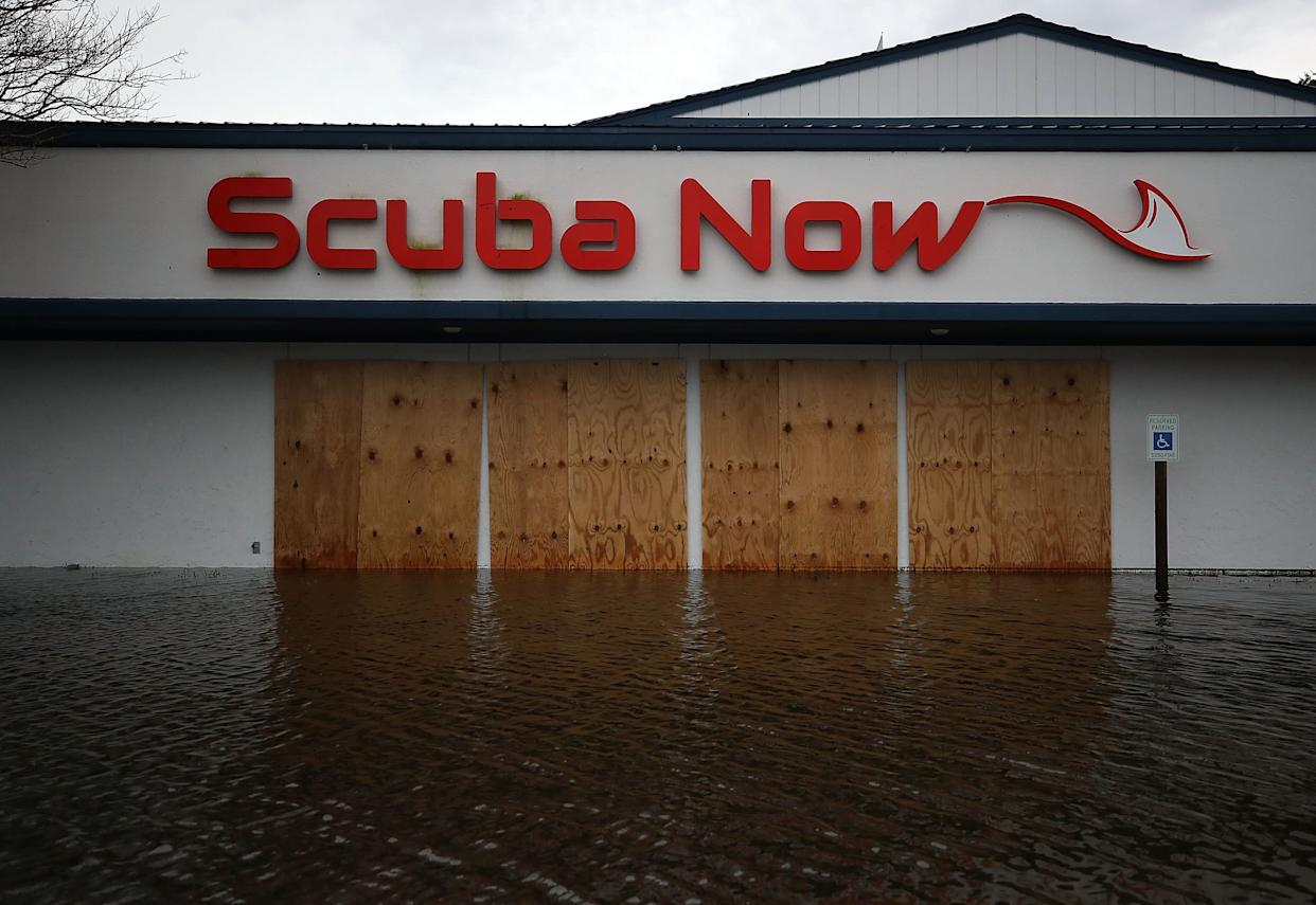 A local business is flooded in Wilmington.