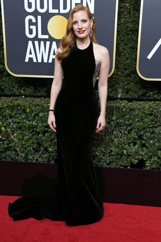 <p>Jessica Chastain, a nominee for Best Actress in a Movie — Drama for <em>Molly's Game</em>, attends the 75th Annual Golden Globe Awards at the Beverly Hilton Hotel in Beverly Hills, Calif., on Jan. 7, 2018. (Photo: Steve Granitz/WireImage) </p>