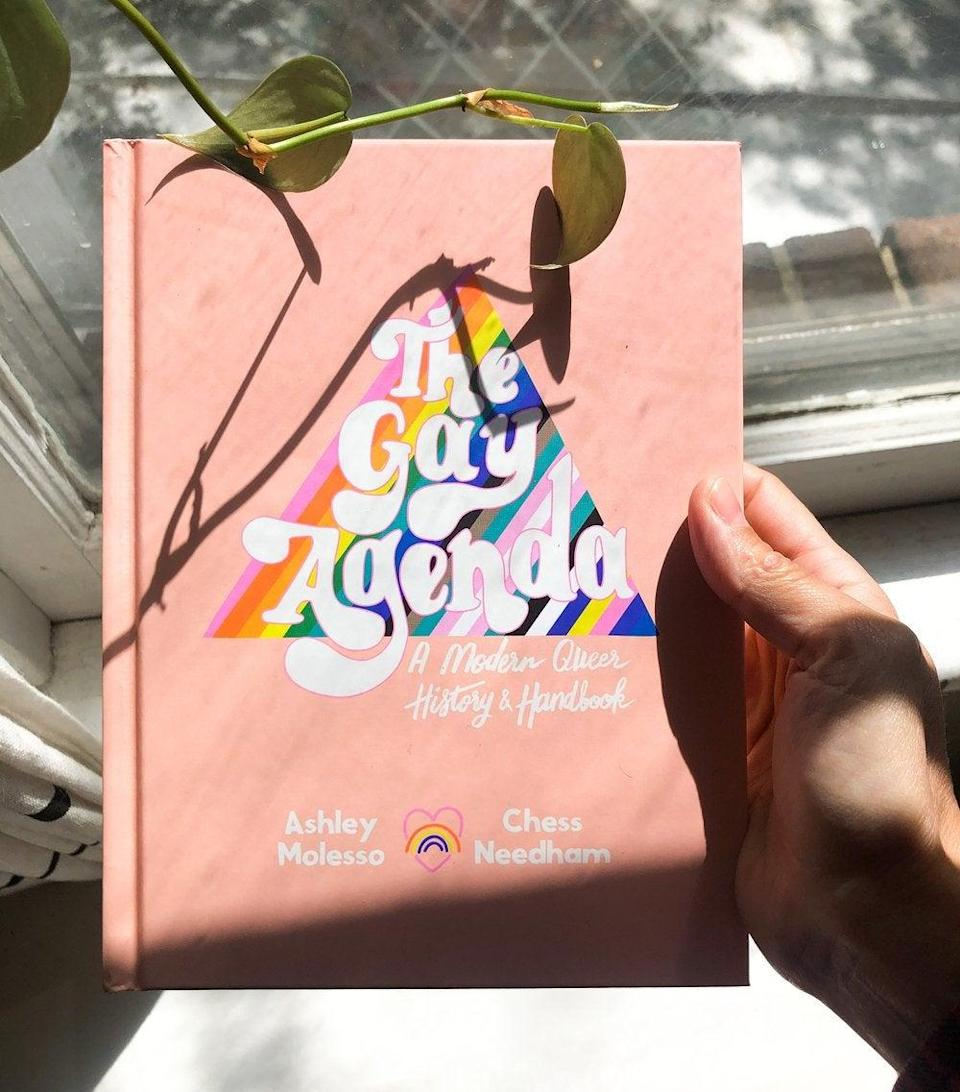 """<h2>Ash + Chess</h2><br>""""Our queer and trans identities have impacted our brand by essentially shaping it into what it is today- a company that at its root celebrates queer identities and caters to the queer community when it comes to greeting cards, art, clothes, and even a safe space to talk and ask questions. We don't make queer-themed stuff because it's trendy to be queer, we do it because we ourselves want to offer the community things that reflect them and their identities."""" <em>– </em> <em>Ashley Molesso & Chess Needham, Ash + Chess Founders</em><br><br>Ash + Chess is a lifestyle and art brand that focuses on celebrating queer joy in every shape it takes. From <a href=""""https://ashandchess.com/collections/books/products/the-gay-agenda-a-modern-queer-history-handbook"""" rel=""""nofollow noopener"""" target=""""_blank"""" data-ylk=""""slk:my absolute favorite queer history book"""" class=""""link rapid-noclick-resp"""">my absolute favorite queer history book</a> to their <a href=""""https://ashandchess.com/collections/art-prints"""" rel=""""nofollow noopener"""" target=""""_blank"""" data-ylk=""""slk:beautiful art prints"""" class=""""link rapid-noclick-resp"""">beautiful art prints</a>, you can never go wrong with anything from this shop. I've been a big fan of theirs for a while now, and everything for their collection just screams queer joy. And that's something we all need. <br><br><strong>Shop <em><a href=""""https://ashandchess.com"""" rel=""""nofollow noopener"""" target=""""_blank"""" data-ylk=""""slk:Ash + Chess"""" class=""""link rapid-noclick-resp"""">Ash + Chess</a></em></strong><br><br><strong>Ash & Chess</strong> The Gay Agenda: A Modern Queer History & Handbook, $, available at <a href=""""https://go.skimresources.com/?id=30283X879131&url=https%3A%2F%2Fashandchess.com%2Fcollections%2Fbooks%2Fproducts%2Fthe-gay-agenda-a-modern-queer-history-handbook"""" rel=""""nofollow noopener"""" target=""""_blank"""" data-ylk=""""slk:Ash and Chess"""" class=""""link rapid-noclick-resp"""">Ash and Chess</a>"""