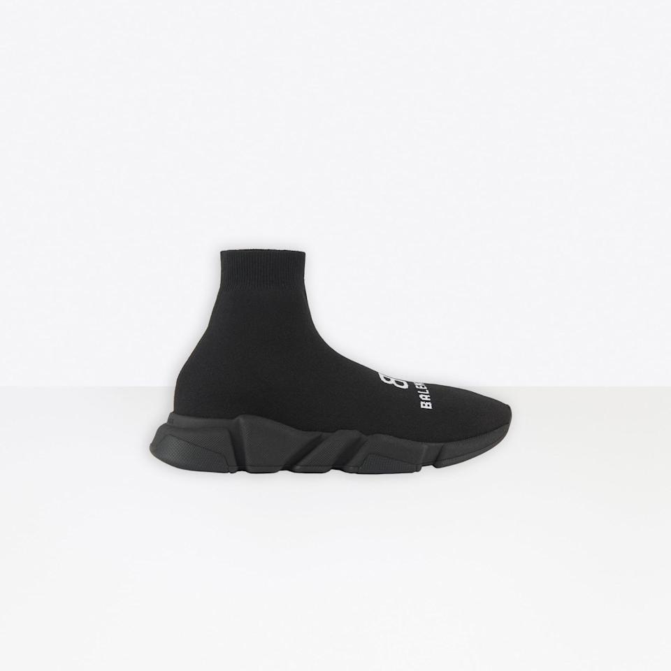 <p>While Balenciaga maintains a trio of popular styles, according to Vestiaire collective, the <span>Speed Sneaker</span> ($795) - you know, the ones that look like socks - are on top. The Track shoe and Triple S are also pretty buzzy pairs.</p>