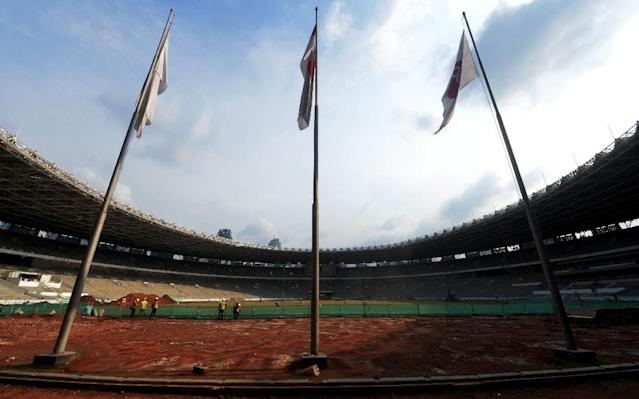 Indonesia faces huge challenges to prepare for the 2018 Asian Games, and has been criticised for a lack of coordination between different bodies organising the event (AFP Photo/BAY ISMOYO)