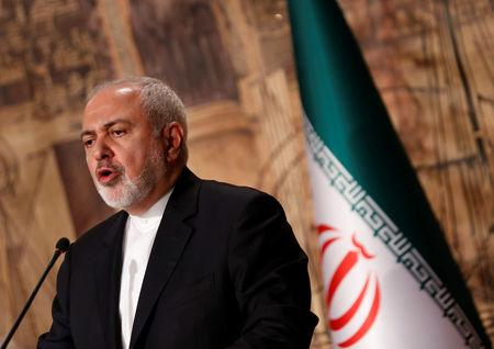 Iran's Foreign Minister Zarif speaks during a news conference in Istanbul