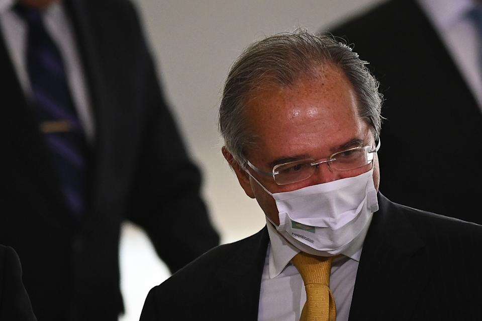 BRASILIA, BRAZIL -DECEMBER09: Minister of Economy of Brazil Paulo Guedes arrives for the opening ceremony of the forum