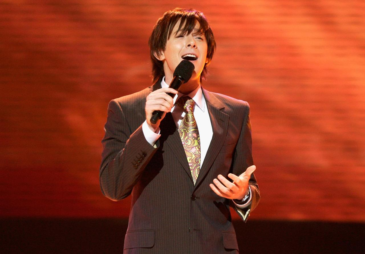 """Before there was the Biebs, """"American Idol"""" gave us Clay Aiken. He lost to Ruben Studdard in Season 2, but Aiken was totally robbed (he should've won based on his prescient hairstyle alone). The singer-turned-father via surrogate-turned public office candidate will forever live on as the creepy stalker who sang about being an """"Invisible"""" fly on the wall."""