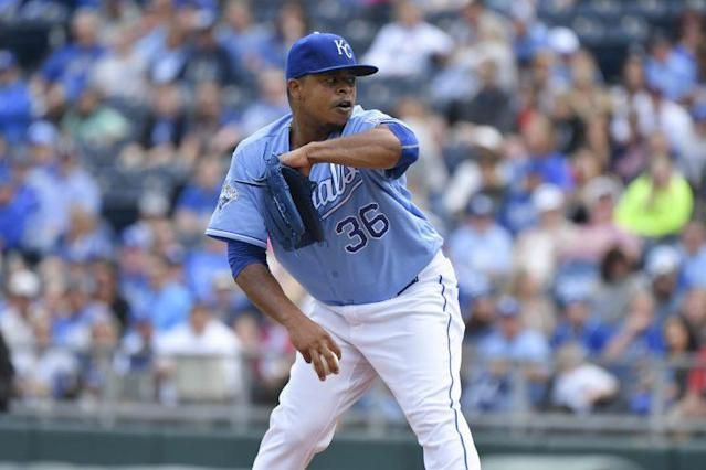 Edinson Volquez is going to Miami. (Getty Images/Ed Zurga)