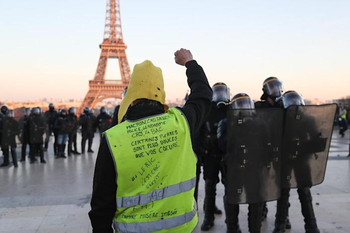 "The ""yellow vest"" protest movement in France has seen participation dwindle in recent weeks (AFP Photo/Zakaria ABDELKAFI)"