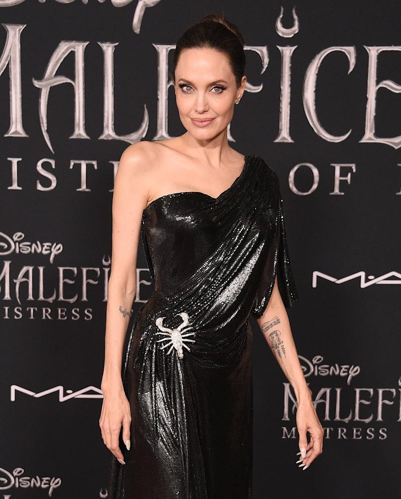 LOS ANGELES, CA - SEPTEMBER 30: Angelina Jolie arrives at the World Premiere Of Disney's