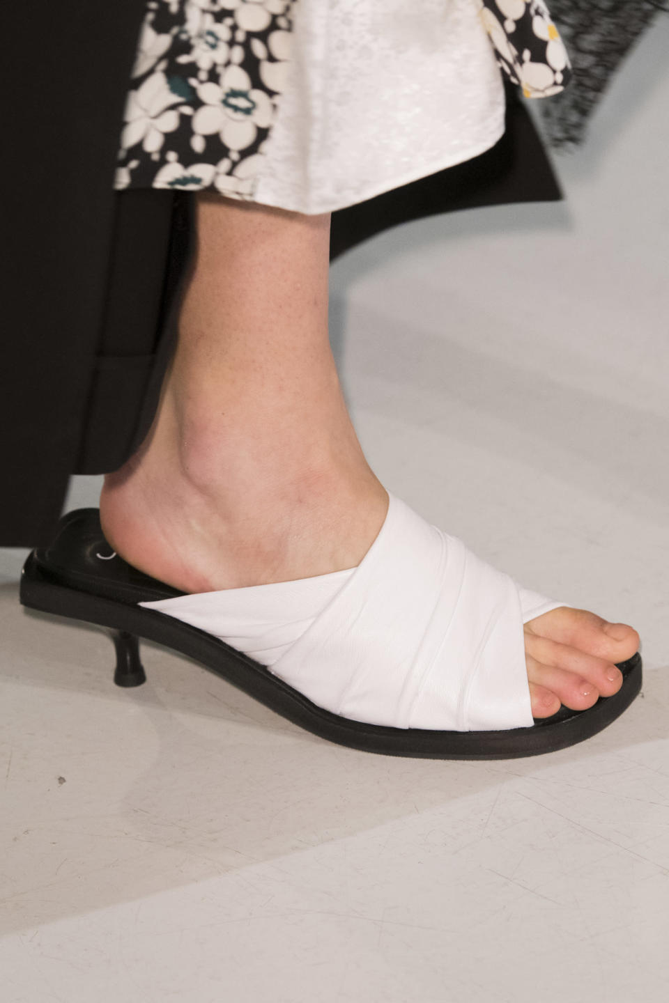<p><i>Crisp white-and-black mules from the SS18 Joseph collection. (Photo: ImaxTree) </i></p>