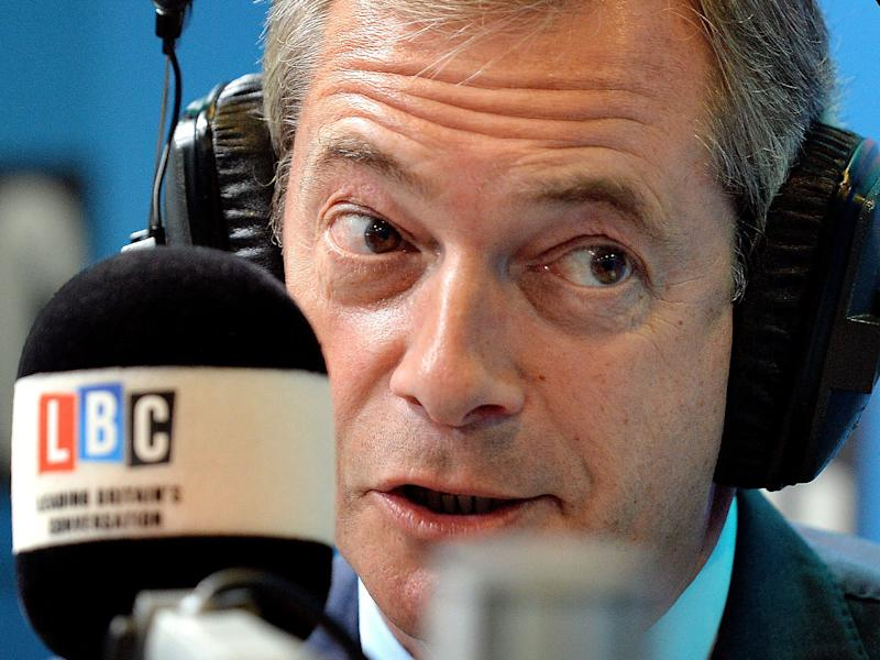 The former Ukip leader made the comments to Brendan Cox, the husband of murdered Labour MP Jo Cox: PA