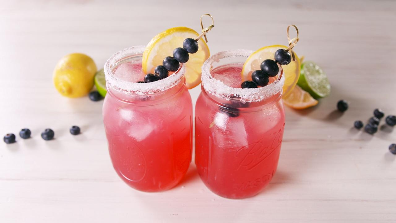 """<p>Red, white, and blue cocktails all here and accounted for—margaritas, sangrias, and boozy lemonades included. For more drink recipes, try our <a href=""""/entertaining/g2163/summer-cocktails/"""">favorite summer cocktails</a> and <a href=""""/holiday-recipes/g3425/fourth-of-july-jello-shots/"""">4th of July jello shot recipes</a>!</p>"""