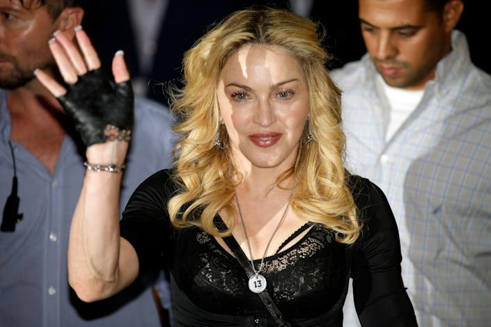 "<a href=""http://www.vulture.com/2009/10/madonna_on_letterman.html"" rel=""nofollow noopener"" target=""_blank"" data-ylk=""slk:&quot;It [my behavior on the show in 1994] wasn't because I was excited about you [David Letterman]. I think it may have had something to do with the joint I smoked before I came on.&quot;"" class=""link rapid-noclick-resp"">""It [my behavior on the show in 1994] wasn't because I was excited about you [David Letterman]. I think it may have had something to do with the joint I smoked before I came on.""</a>"