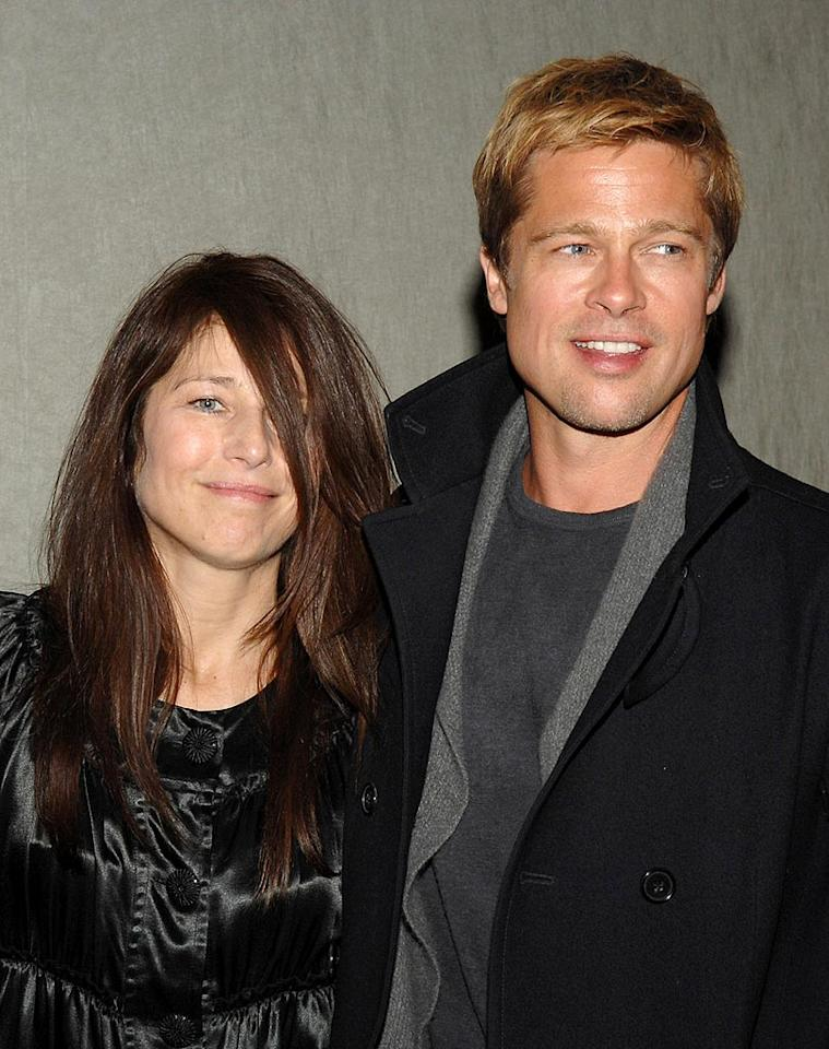 "Catherine Keener and Brad Pitt met on the set of the 1991 indie film ""Johnny Suede"" and have been super tight ever since. L. Cohen/<a href=""http://www.wireimage.com"" target=""new"">WireImage.com</a> - January 8, 2007"