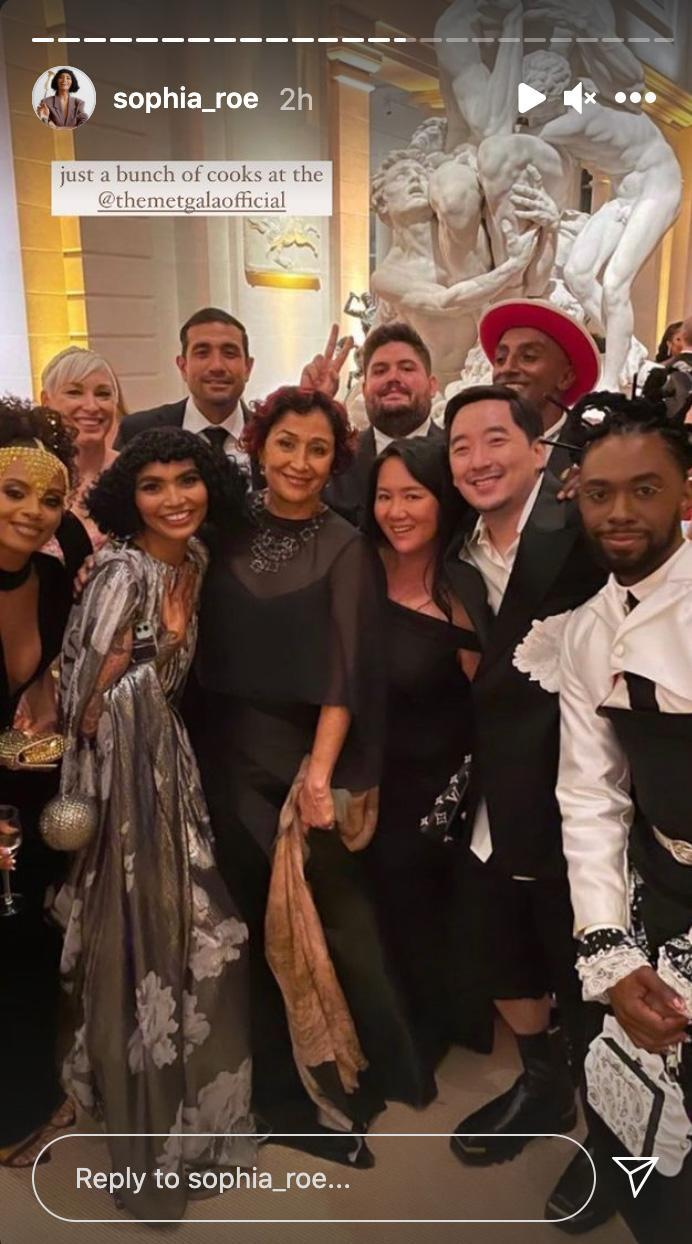 <p>Don't forget the chefs! Marcus Samuelsson (in the red hat) chose 10 up-and-comers to help devise a plant-based menu for the evening. </p>