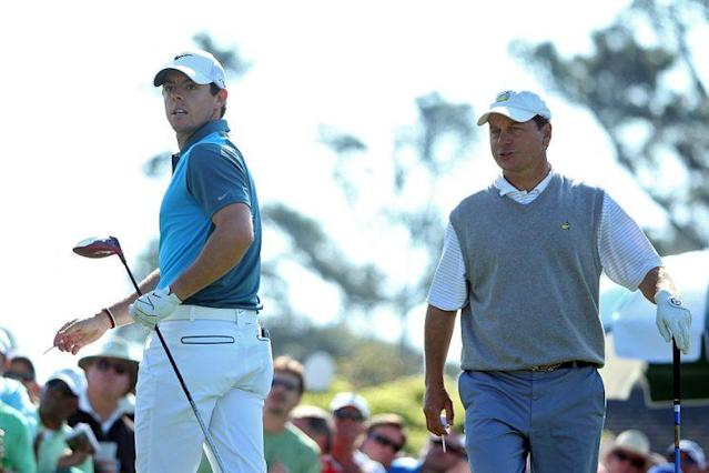 """In this 2014 photo, Jeff Knox plays with <a class=""""link rapid-noclick-resp"""" href=""""/pga/players/8016/"""" data-ylk=""""slk:Rory McIlroy"""">Rory McIlroy</a> at the Masters. (Getty)"""