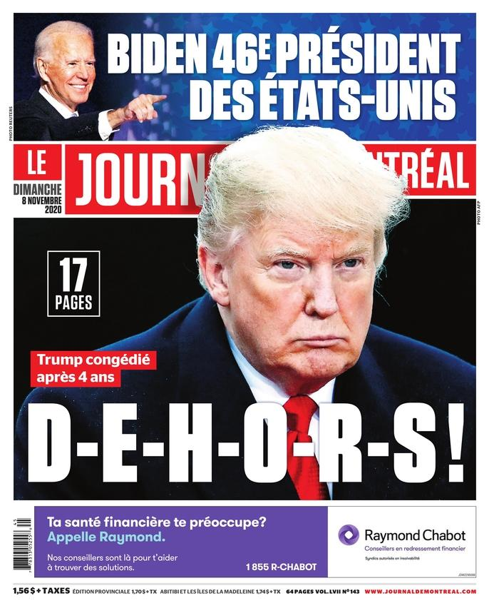 "Le Journal de Montréal, Published in Montreal, Que. Canada (<a href=""https://www.newseum.org/todaysfrontpages/?tfp_display=list&tfp_id=CAN_JM"" rel=""nofollow noopener"" target=""_blank"" data-ylk=""slk:Newseum"" class=""link rapid-noclick-resp"">Newseum</a>)"