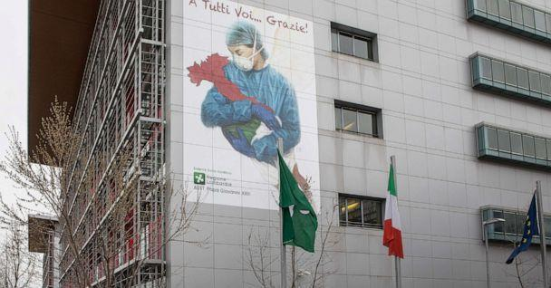 PHOTO: Papa Giovanni XXIII Hospital on March 25, 2020 in Bergamo, Italy. (Emanuele Cremaschi/Getty Images, FILE)