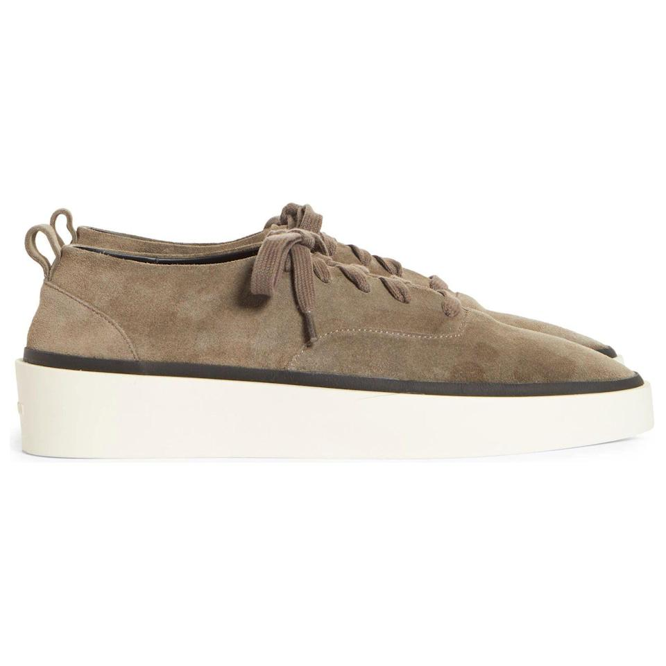 """<p><strong>101 Low-Top Sneakers</strong></p><p>nordstrom.com</p><p><strong>$550.00</strong></p><p><a href=""""https://go.redirectingat.com?id=74968X1596630&url=https%3A%2F%2Fwww.nordstrom.com%2Fs%2Ffear-of-god-101-low-top-sneaker-men-nordstrom-exclusive%2F5937682&sref=https%3A%2F%2Fwww.esquire.com%2Fstyle%2Fmens-accessories%2Fadvice%2Fg2538%2Fluxury-sneaker-brands-worth-spending-money%2F"""" rel=""""nofollow noopener"""" target=""""_blank"""" data-ylk=""""slk:Shop Now"""" class=""""link rapid-noclick-resp"""">Shop Now</a></p><p>Designer Jerry Lorenzo has made no secret of his high ambitions in the fashion game. Basically, the guy wants to be the next Ralph Lauren. Coming from someone else, that might sound (more than) a little unrealistic. But Lorenzo's ever-expanding empire—along with the main Fear of God collection, he's also got the more-affordable Essentials line, plus an upcoming project with Adidas basketball—suggests that he could actually pull it off. His sneakers are sleek, subtle, and frequently sell out, so if you want to start laying your own foundations, don't sleep when you find 'em in your size.</p>"""
