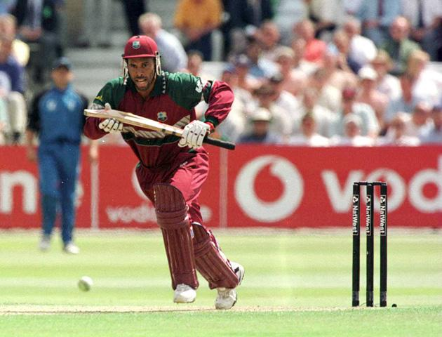 20 Jul 2000: Jimmy Adams of West Indies during the NatWest Series One Day International between England and West Indies at Trent Bridge, Nottingham.  Mandatory Credit: Laurence Griffiths/ALLSPORT