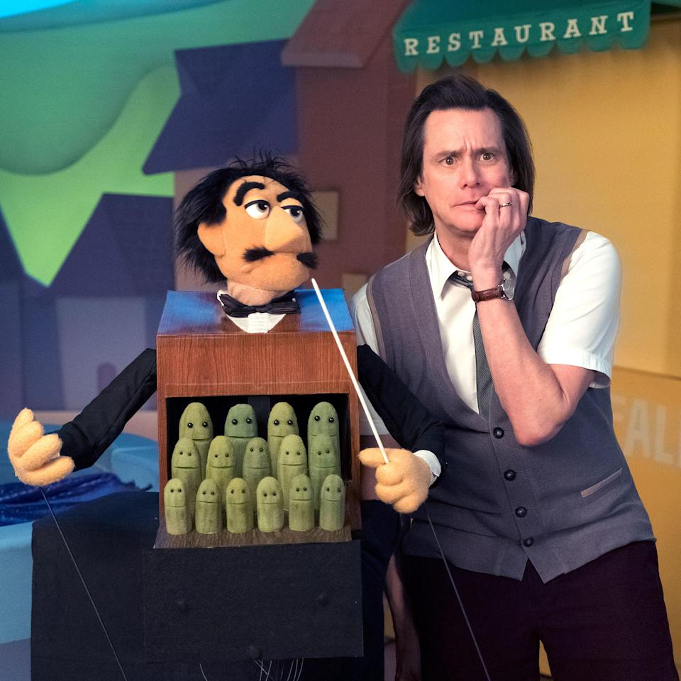 In Kidding, Carrey plays a children's television star who feels beloved in all homes but his own (credit: HBO)