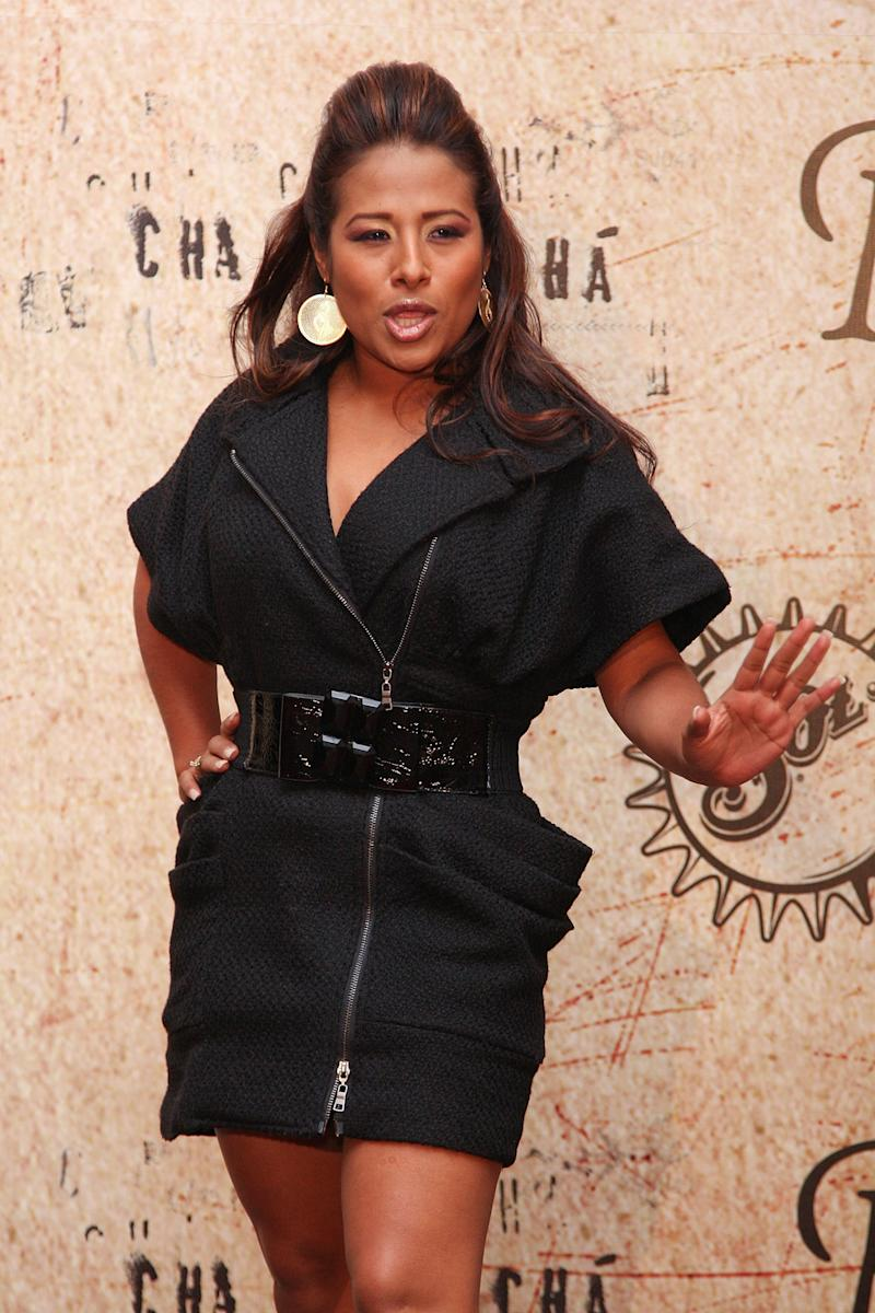 """Singer Toñita attends the premiere of """"Rudo y Cursi"""" at the Teatro Metropolitan on December 10, 2008 in Mexico City. *** Local Caption ***"""
