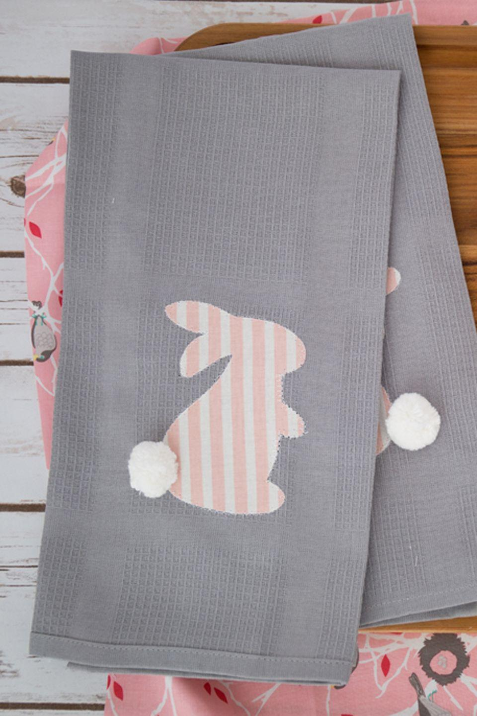 "<p>Give your napkins, dish towels, or table cloth a touch of Easter spirit with this iron-on little animal.</p><p><strong>Get the tutorial at <a href=""http://www.simplesimonandco.com/2015/03/diy-easter-kitchen-linens.html/"" rel=""nofollow noopener"" target=""_blank"" data-ylk=""slk:Simple Simon & Company"" class=""link rapid-noclick-resp"">Simple Simon & Company</a>.</strong></p><p><a class=""link rapid-noclick-resp"" href=""https://www.amazon.com/Richland-Textiles-Cotton-Seersucker-Stripe/dp/B00PYZ2VK8/ref=sr_1_3?tag=syn-yahoo-20&ascsubtag=%5Bartid%7C10050.g.1652%5Bsrc%7Cyahoo-us"" rel=""nofollow noopener"" target=""_blank"" data-ylk=""slk:SHOP PINK AND WHITE FABRIC"">SHOP PINK AND WHITE FABRIC</a></p>"