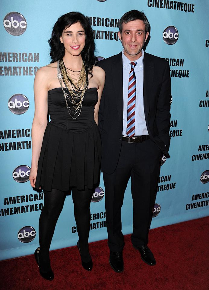 "<a href=""http://movies.yahoo.com/movie/contributor/1800359449"">Sarah Silverman</a> and Alec Sulkin at the 24th American Cinematheque Annual Gala Honoring Matt Damon on March 27, 2010."