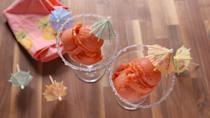 "<p>This frozen treat has serious fiesta vibes.</p><p>Get the recipe from <a href=""https://www.delish.com/cooking/recipe-ideas/recipes/a47880/strawberry-margarita-sorbet-recipe/"" rel=""nofollow noopener"" target=""_blank"" data-ylk=""slk:Delish"" class=""link rapid-noclick-resp"">Delish</a>.</p>"