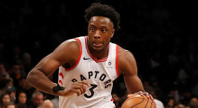 Anunoby had a tumultuous 2018-19 season for a variety of reasons. (Photo by Jim McIsaac/Getty Images)