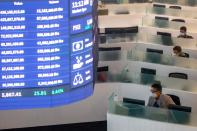 Philippine Stock Exchange amid the coronavirus outbreak