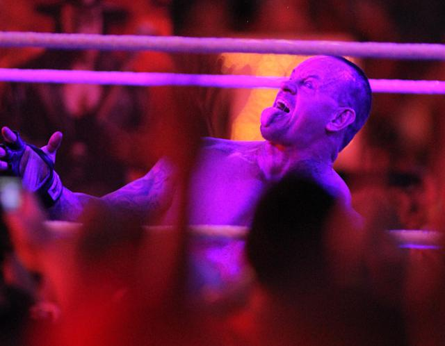 Undertaker goes 20-0 at WrestleMania XXVIII in Sun Life Stadium on April 1, 2012 in Miami, Florida. (Marc Serota/AP Images)