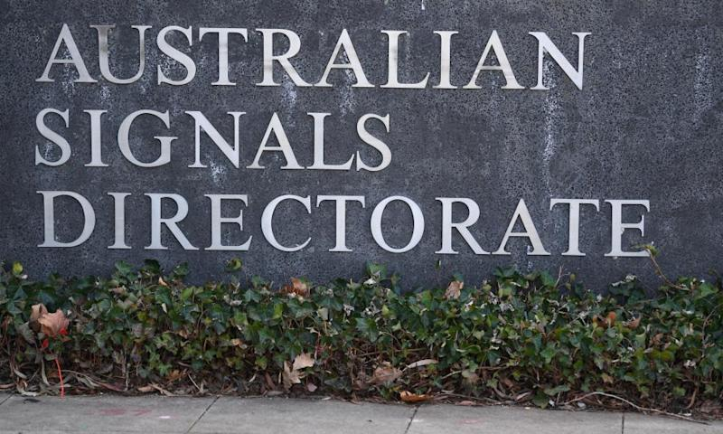 Sign of the Australian Signals Directorate in Canberra