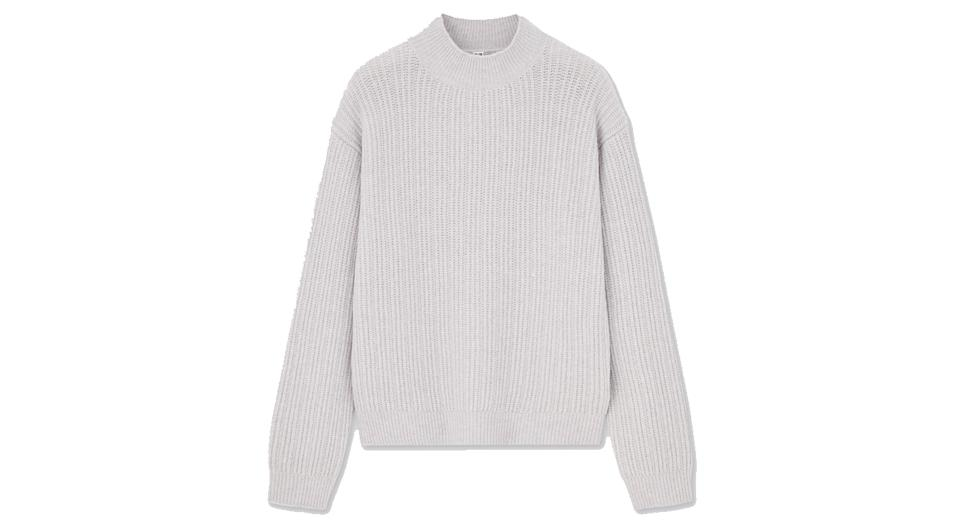 Women Light Souffle Soft Knit Mock Neck Jumper