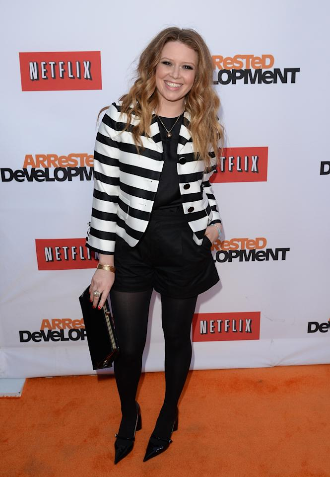 "HOLLYWOOD, CA - APRIL 29:  Actress Natasha Lyonne arrives at the TCL Chinese Theatre for the premiere of Netflix's ""Arrested Development"" Season 4 held on April 29, 2013 in Hollywood, California.  (Photo by Jason Merritt/Getty Images)"