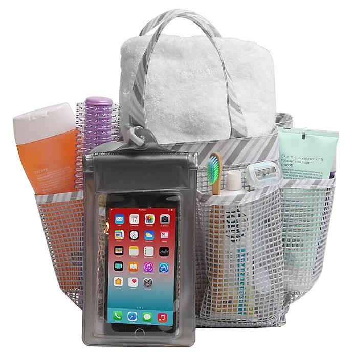 "<h3><strong><a href=""https://www.bedbathandbeyond.com/store/product/mesh-shower-tote/802523"" rel=""nofollow noopener"" target=""_blank"" data-ylk=""slk:Bed Bath & Beyond Mesh Shower Tote"" class=""link rapid-noclick-resp"">Bed Bath & Beyond Mesh Shower Tote</a></strong></h3> <p><a href=""https://www.refinery29.com/en-us/2019/08/239480/bed-bath-beyond-college-dorm-essentials-2019"" rel=""nofollow noopener"" target=""_blank"" data-ylk=""slk:Bed Bath & Beyond"" class=""link rapid-noclick-resp"">Bed Bath & Beyond</a> is a goldmine for all things home-related, and this foldable mesh design makes it easy and lightweight to bring your products to locker rooms, dorm showers, and beyond. (Plus, it comes with a clear pouch to store your phone if you can't possibly bear to spend time away from it.)</p> <br> <br> <strong>Bed Bath & Beyond</strong> Mesh Shower Tote, $9.99, available at <a href=""https://www.bedbathandbeyond.com/store/product/mesh-shower-tote/802523"" rel=""nofollow noopener"" target=""_blank"" data-ylk=""slk:Bed Bath & Beyond"" class=""link rapid-noclick-resp"">Bed Bath & Beyond</a>"