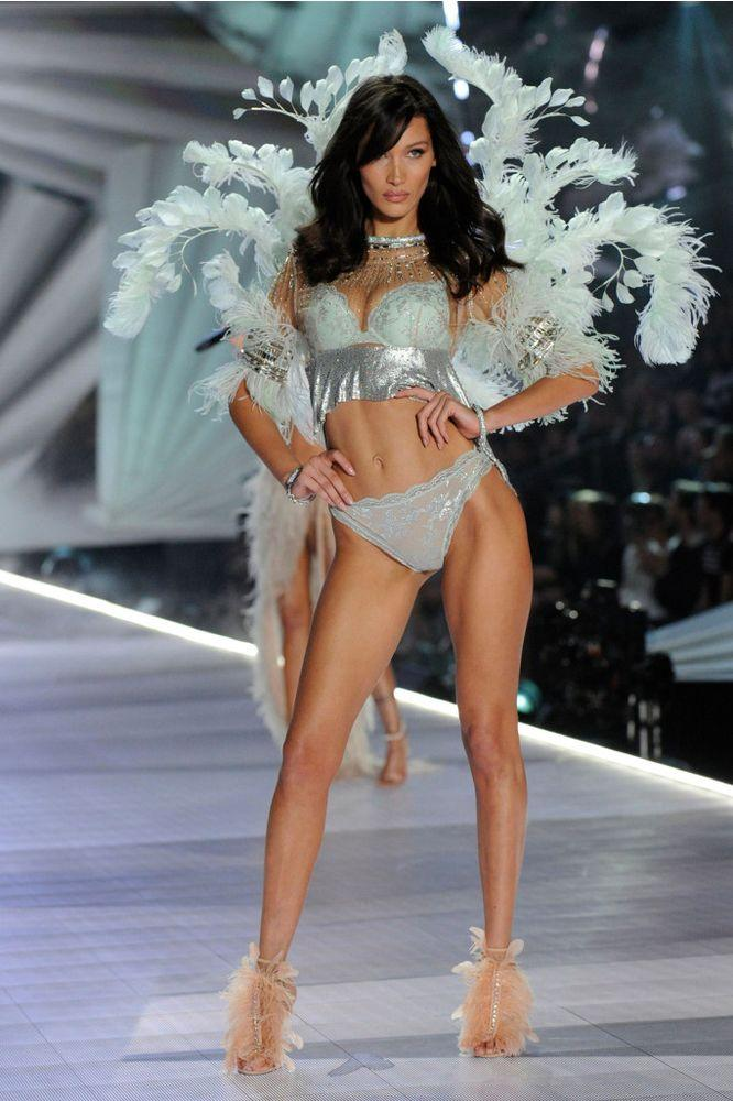 Bella Hadid in the 2018 Victoria's Secret Fashion Show Holiday Special | Jeff Neira/Getty Images