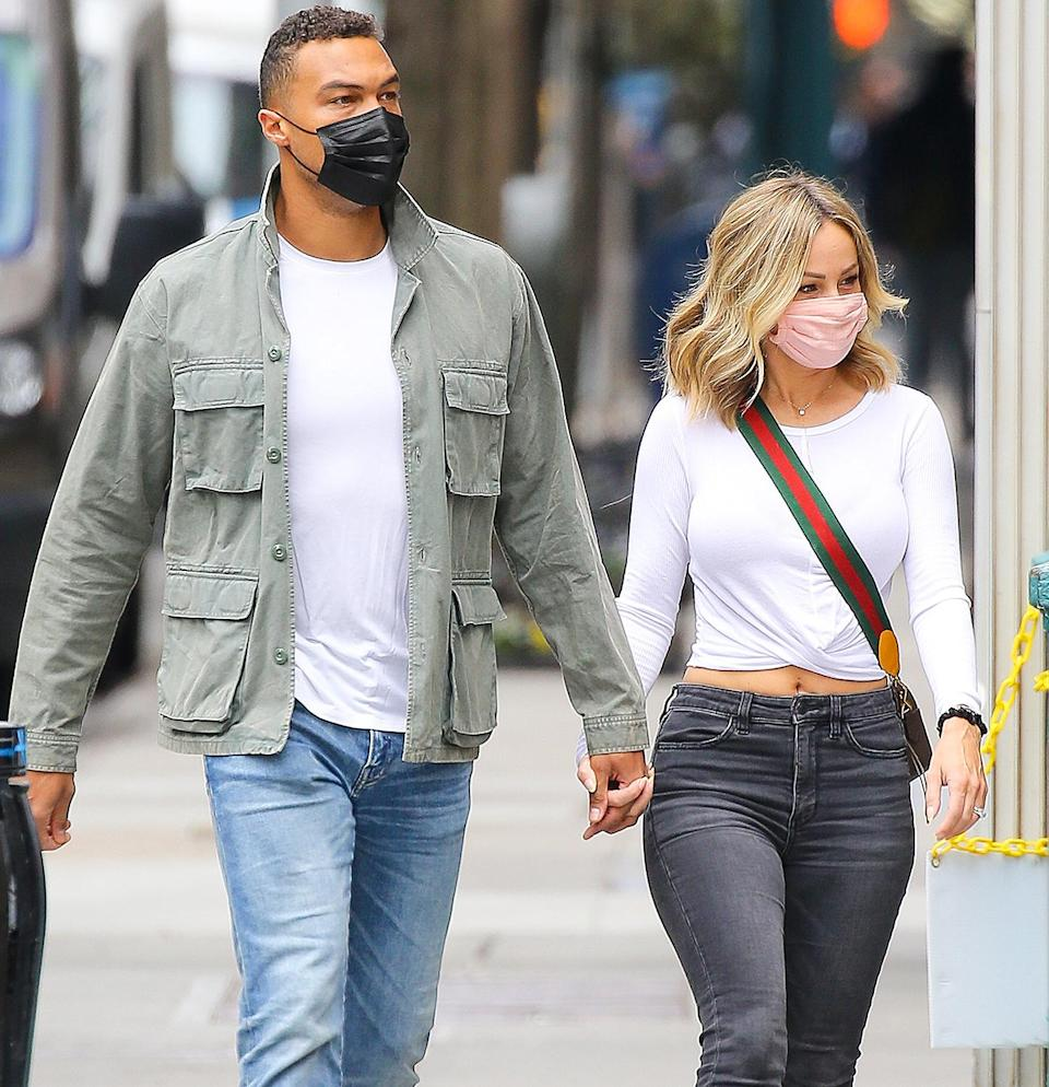 <p>Dale Moss and Clare Crawley are seen out in N.Y.C. on Wednesday holding hands as they go for a walk.</p>