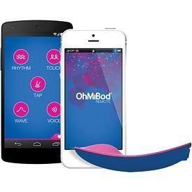 """Every aspect of our lives connects to our phone, so why shouldn't our sex toys? <a href=""""http://www.babeland.com/ohmibod-bluemotion-remote-vibrator/d/4542"""" target=""""_blank"""">Your smartphone becomes the remote that controlsthis vibrator</a>. The two can by synced via Bluetooth for couples who want to play in the same room, or synced to Wi-Fi for couples who want to play remotely."""