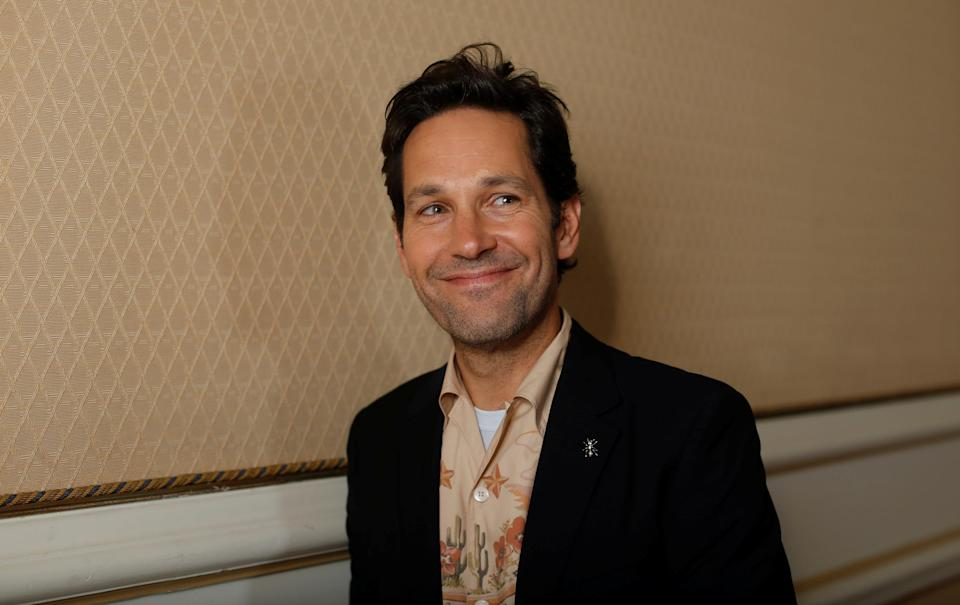 Paul Rudd promotes <em>Ant-Man and the Wasp</em> in Pasadena, Calif., on June 24. (Photo: Reuters/Mario Anzuoni)
