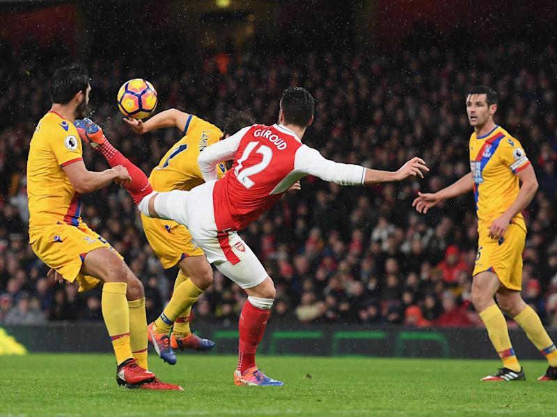 Giroud's scorpion kick was watched around the world - but didn't win the award: Getty