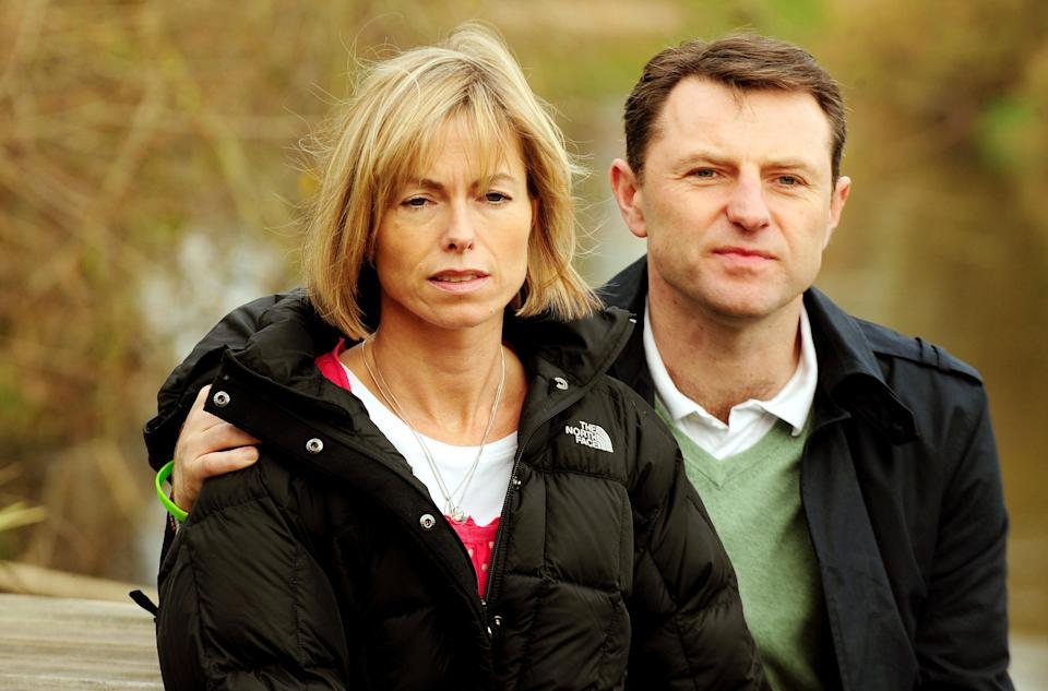 Embargoed to 0001 Wednesday November 3 Kate and Gerry McCann in Quorn, Leicestershire, as they launch a petition to lobby the UK and Portuguese governments for a joint or independent review over their daughter Madeleine's disappearance.
