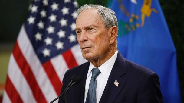 PHOTO: Former New York City mayor Michael Bloomberg speaks at a news conference at a gun control advocacy event, Feb. 26, 2019, in Las Vegas. (John Locher/AP)